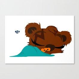 Tank The Teddy Canvas Print