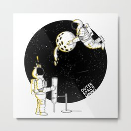 Mining in Space Metal Print