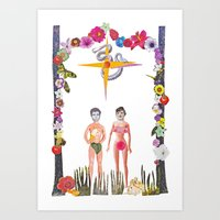 Adam and Eve, is that you? Art Print