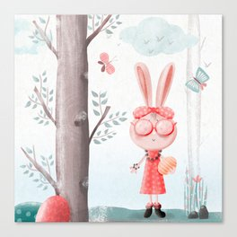 A Girl Bunny Canvas Print