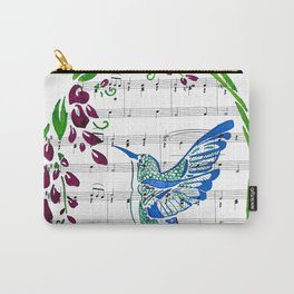 Carrier of Hope (Hummingbird and Wisteria) Carry-All Pouch