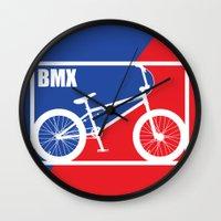 nba Wall Clocks featuring BMX by Wyatt Design