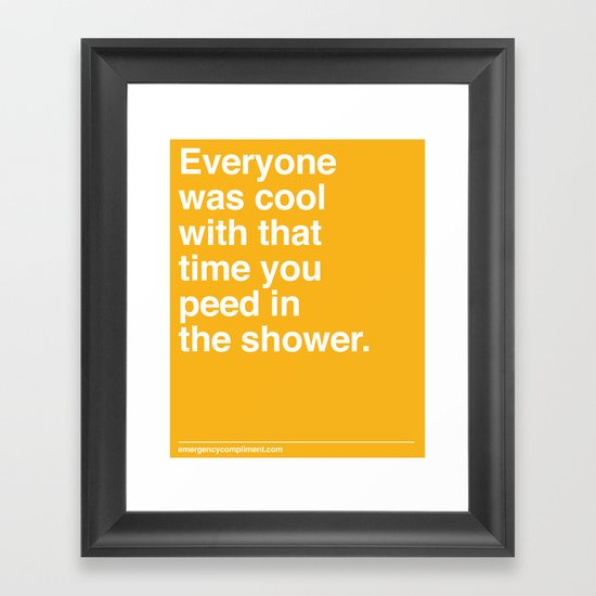 That Time You Peed Framed Art Print