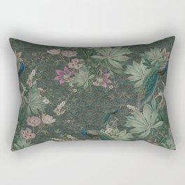 Bloomartgallery_Antique green peacock botanical exotic pattern Rectangular Pillow