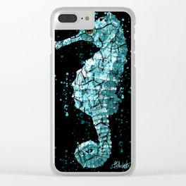 Seahorse Ocean Deep Clear iPhone Case