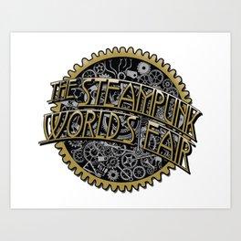 The Steampunk Worlds Fair Logo Poster Art Print