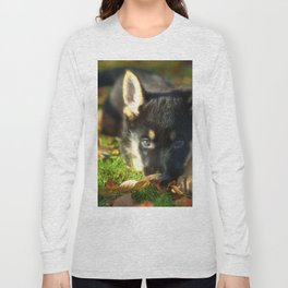 Cute 8 weeks old shepherd puppy Long Sleeve T-shirt