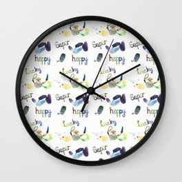 Super Happy Lucky Pattern Wall Clock