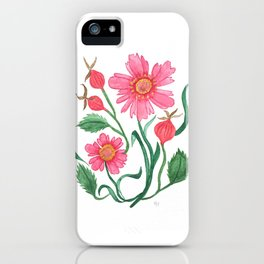 coreopsis & rose hips iPhone Case