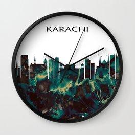 Karachi Pakistan Wall Clock