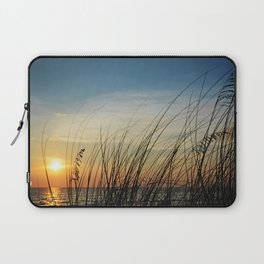 Sunset through the sea weeds Laptop Sleeve