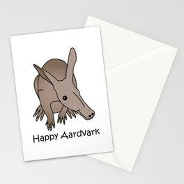 Happy Aardvark Stationery Cards