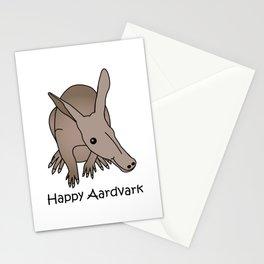 Happy Aardvark Stationery Cards