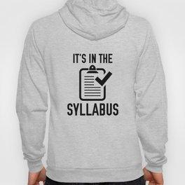 It's In The Syllabus Hoody