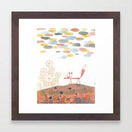 Fox in Fall Framed Art Print