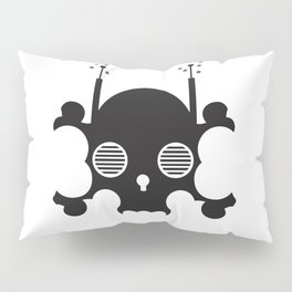 mindless digital skull - black Pillow Sham