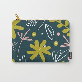 bold retro floral pattern Carry-All Pouch