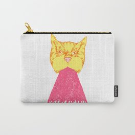 Pink Cat Vomit Carry-All Pouch