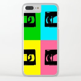 Pop Art VHS Tape Clear iPhone Case