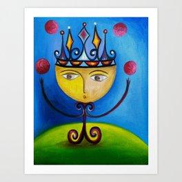 Little King as Juggler Art Print