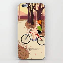 Bike Girl iPhone Skin