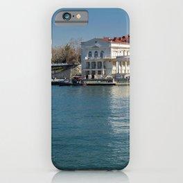 Crimea Russia Sevastopol Marinas Houses Cities Pier Berth Building iPhone Case
