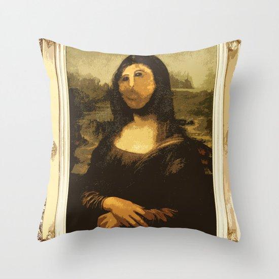 Ups! ( Mona Lisa - La Gioconda ) Throw Pillow