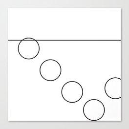 The Falling Circle Canvas Print