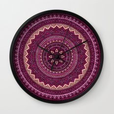 Hippie mandala 39 Wall Clock