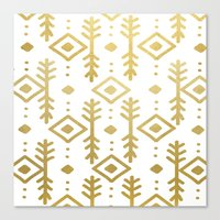 nordic Canvas Prints featuring GOLD NORDIC by Nika