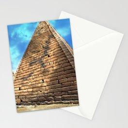 Kush Empire pyramids - Jebel Barkal - Sudan Stationery Cards