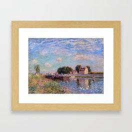 The Canal at Saint-Mammes Framed Art Print