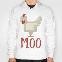 chicken Hoodies featuring Chicken  by JunkyDotCom