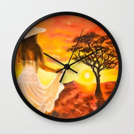 Karoo Sun by M.Viljoen Wall Clock