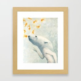 Try not to breath Framed Art Print