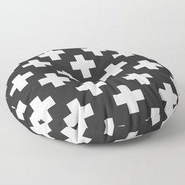Plus in Black and White Floor Pillow