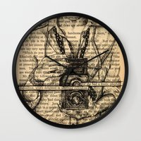 pride and prejudice Wall Clocks featuring Pride & Prejudice, Page 7 by Rebecca Loomis