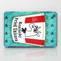 kentucky iPad Cases featuring Kentucky Fried Unicorn by That's So Unicorny