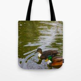 Swimming ducks Tote Bag