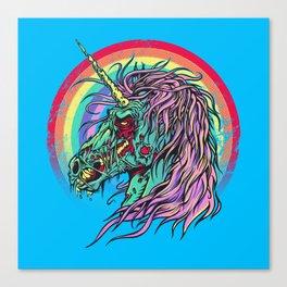 Zombie Unicorn Canvas Print