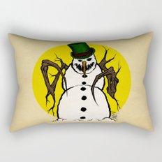 Sinister Snowman Rectangular Pillow