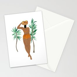 Fruit Basket Gal Stationery Cards