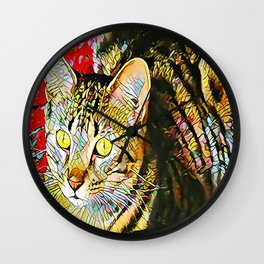 The TIGER from our FUNK YOUR FELINE line Wall Clock
