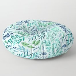 Wild Scattered Branches Floor Pillow