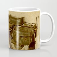 ducati Mugs featuring Ducati vintage background by Larsson Stevensem