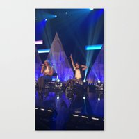 fifth harmony Canvas Prints featuring Camila Cabello of Fifth Harmony by Brittny May