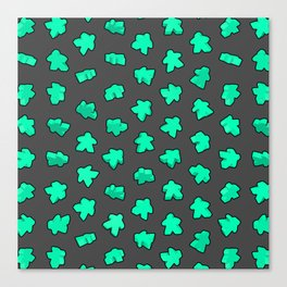Mint Game Meeples Canvas Print