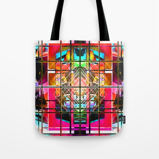 3-D-GEOMETRY AND COLOR. Tote Bag
