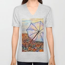 After small rain showers Unisex V-Neck