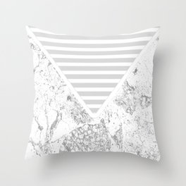 The Envelope: Marble + Stripe Throw Pillow
